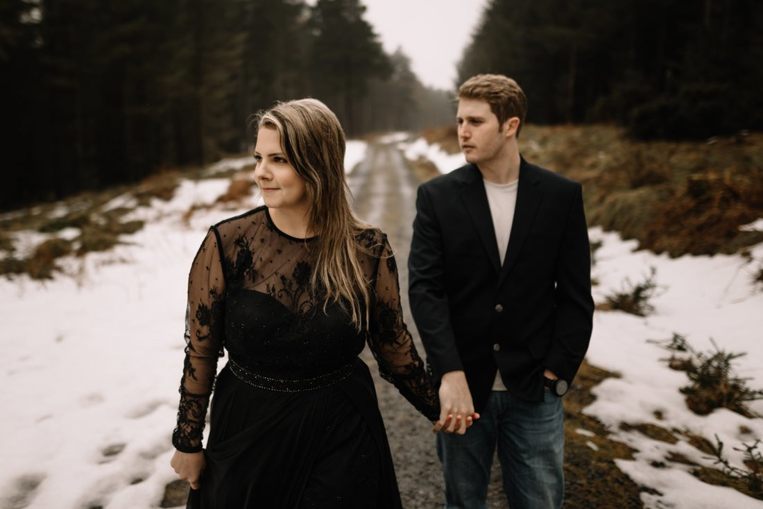 042 a snowy winter anniversary session in wicklow mountains wedding photographer dublin