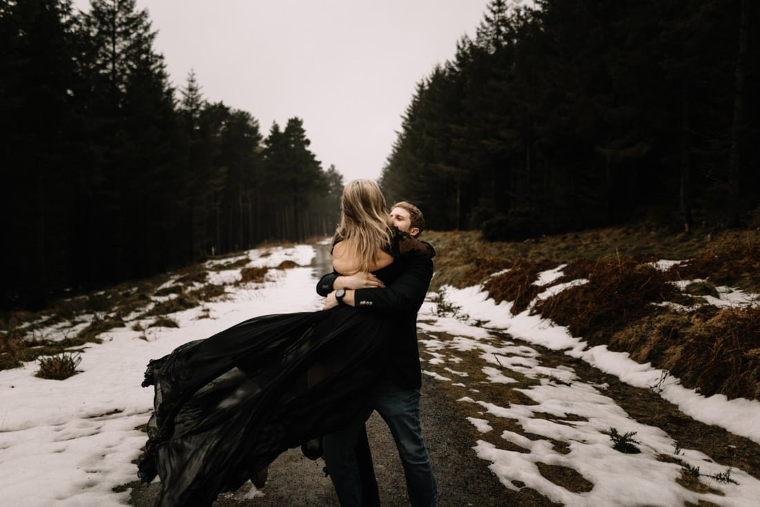 048 a snowy winter anniversary session in wicklow mountains wedding photographer dublin