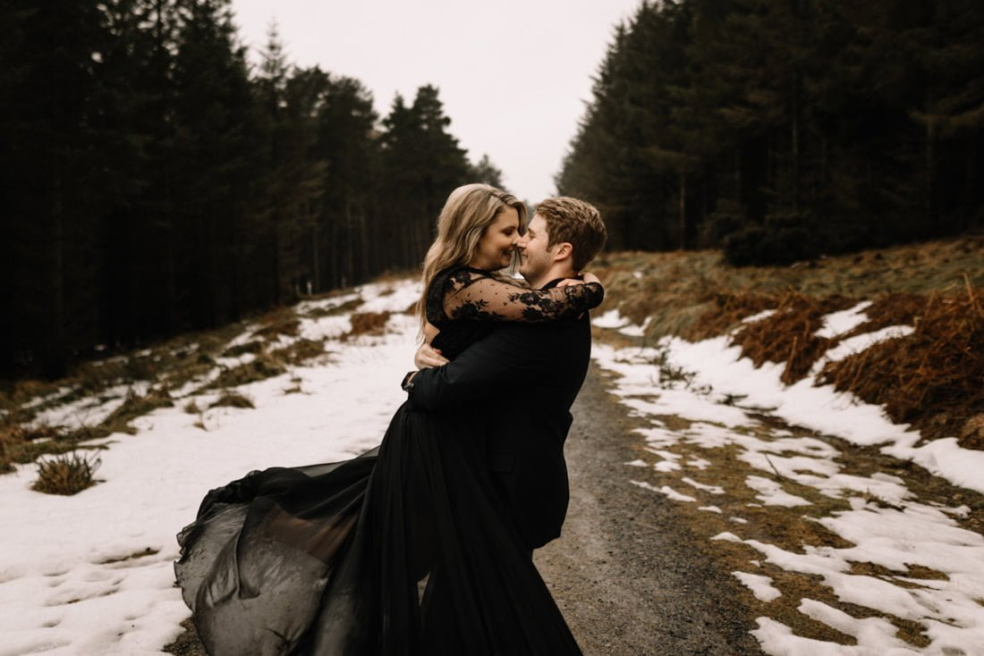 051 a snowy winter anniversary session in wicklow mountains wedding photographer dublin