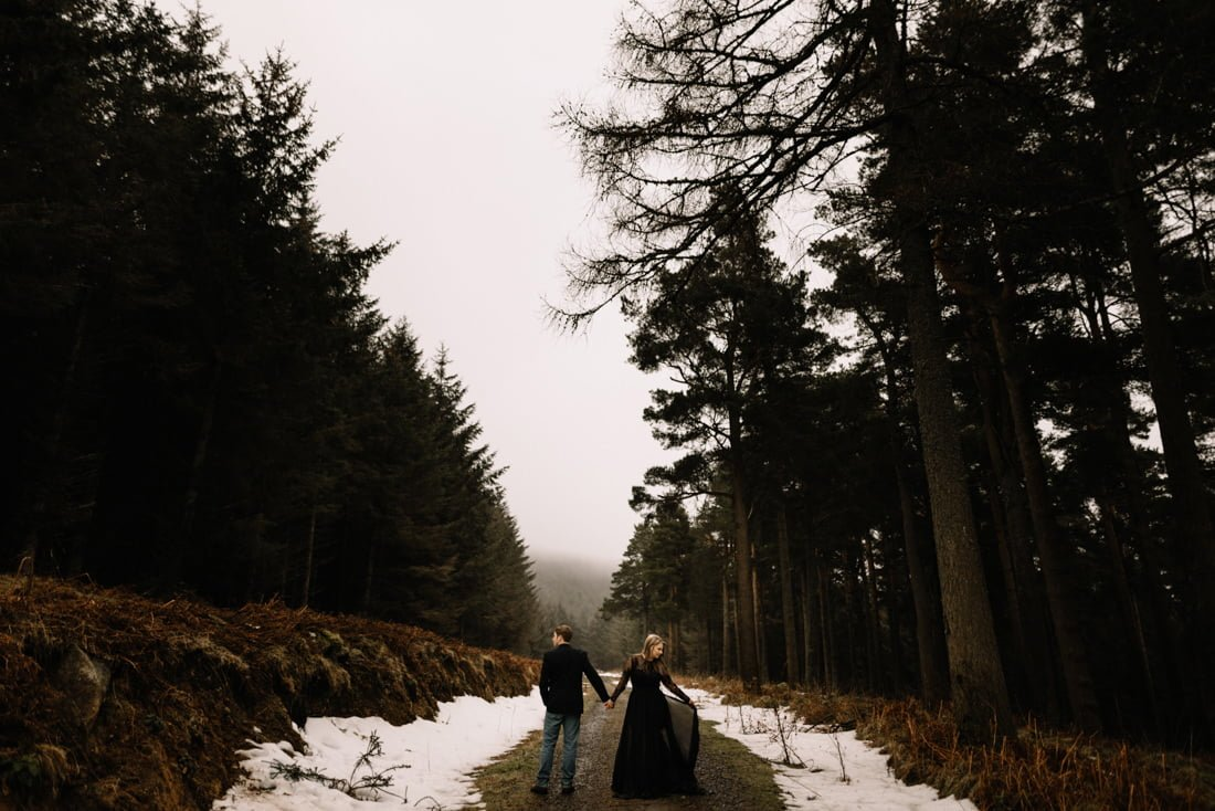 052 a snowy winter anniversary session in wicklow mountains wedding photographer dublin