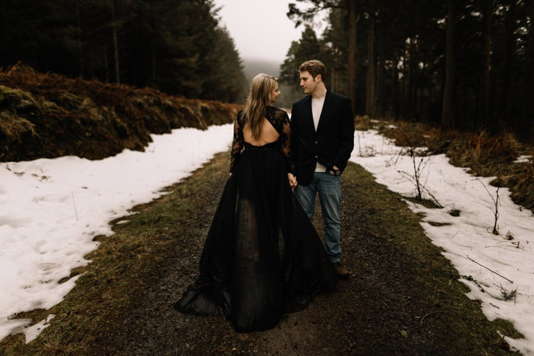 057 a snowy winter anniversary session in wicklow mountains wedding photographer dublin