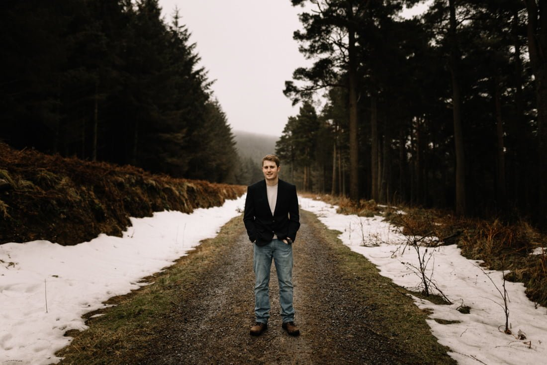 065 a snowy winter anniversary session in wicklow mountains wedding photographer dublin