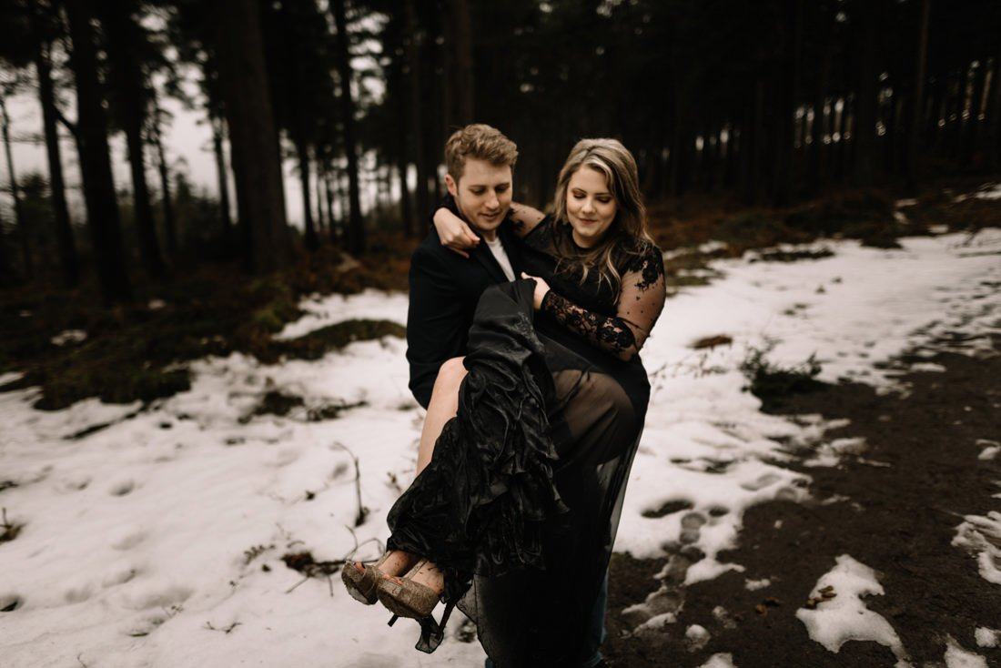 074 a snowy winter anniversary session in wicklow mountains wedding photographer dublin