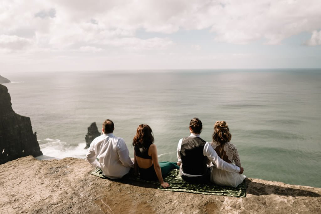 100 cliffs of moher elopement wedding photographer doolin