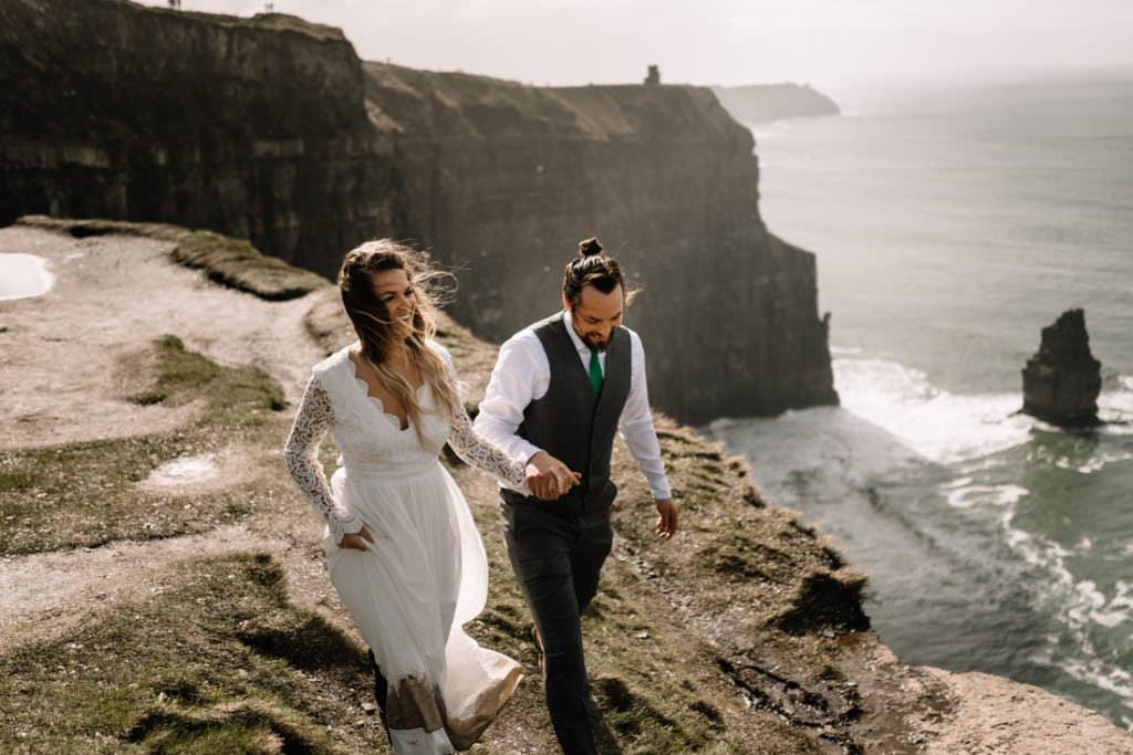 102 cliffs of moher elopement wedding photographer doolin