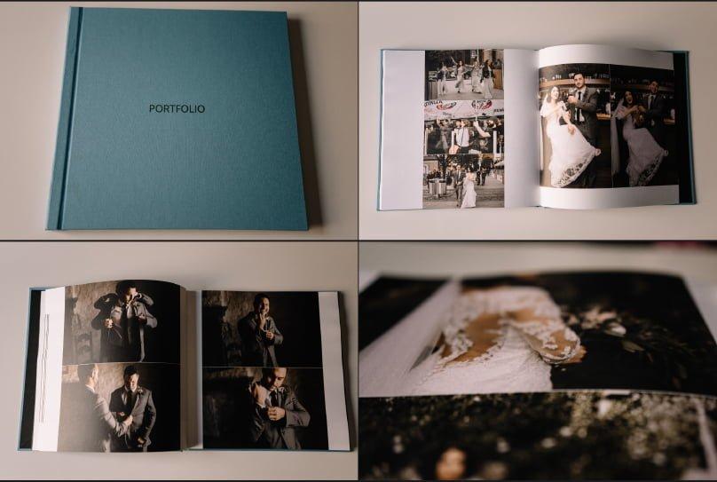 Fine Art Linen Wedding Album