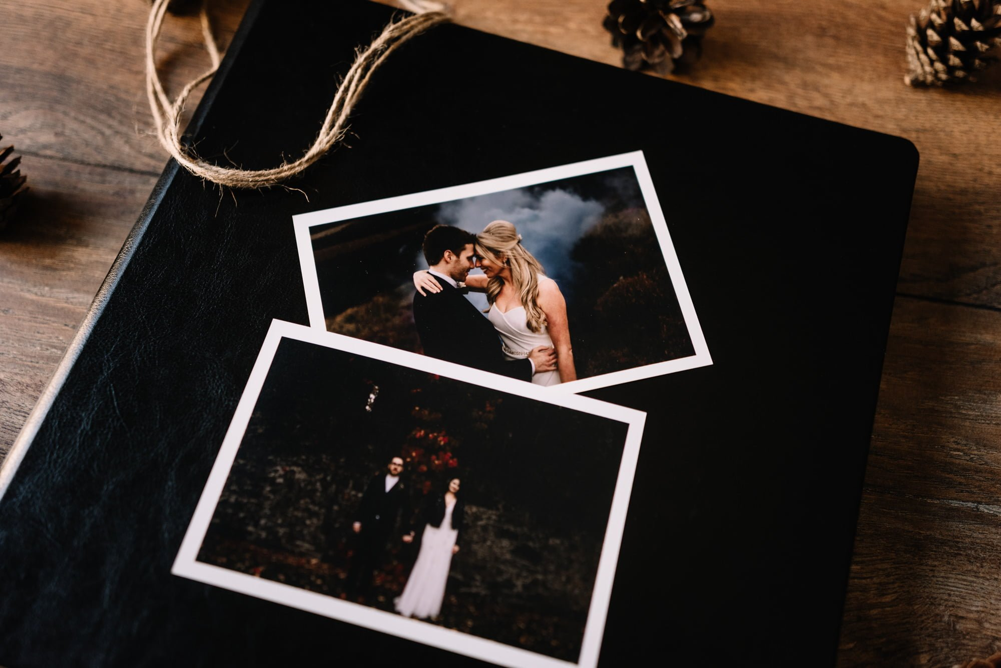 leather wedding album