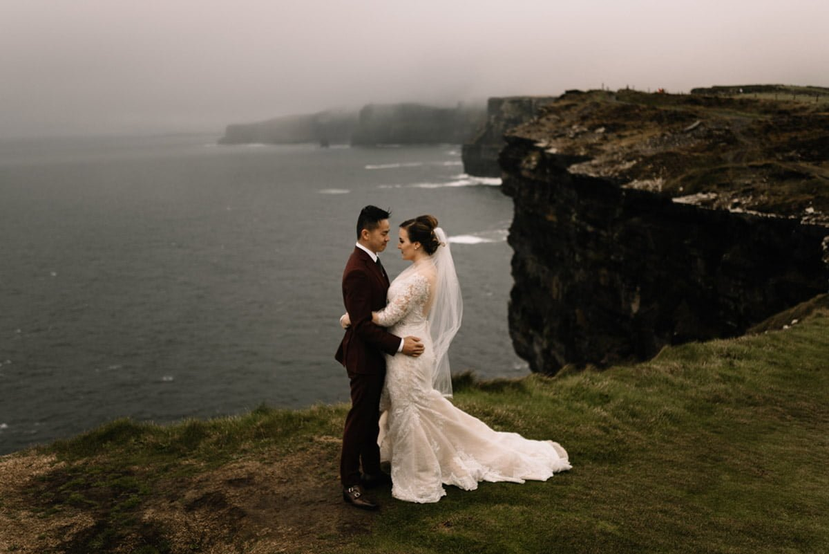 cliffs of moher elopement photography